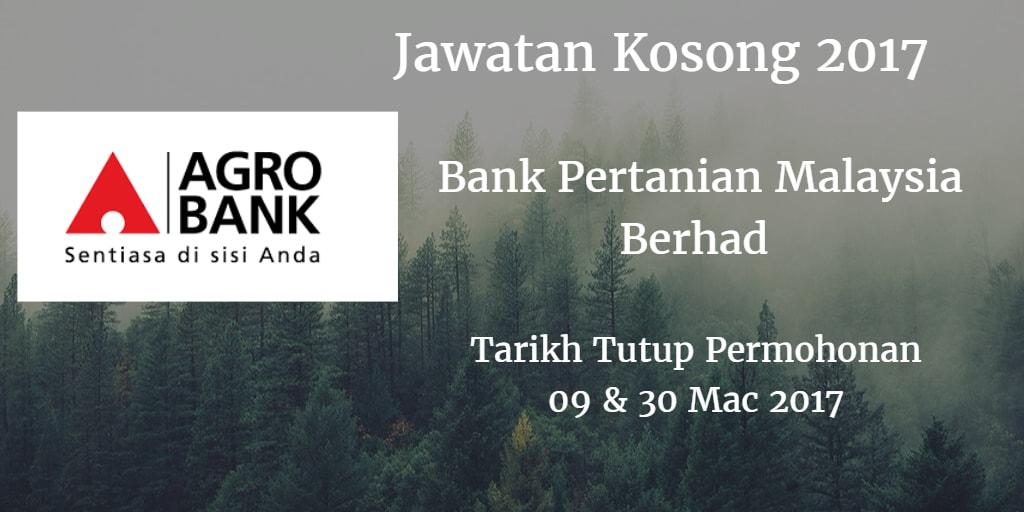 Jawatan Kosong Agrobank 09 & 30 Mac 2017