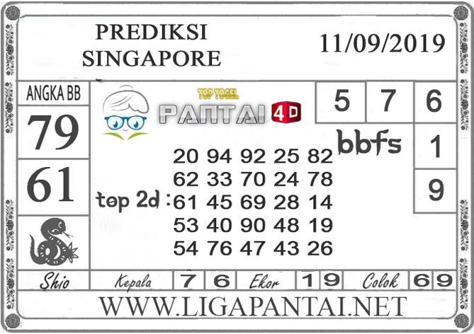 "PREDIKSI TOGEL ""SINGAPORE"" PANTAI4D 11 SEPTEMBER 2019"
