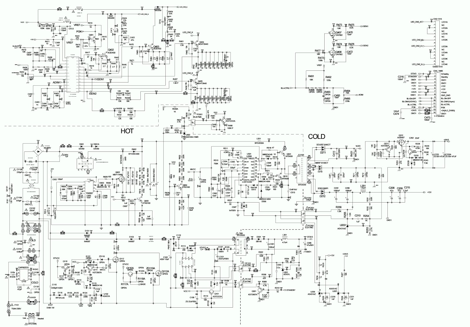 diagram of lg tv power supply lg plde-p008a - smps power supply unit with integrated led ...