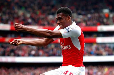 Alex Iwobi Celebrating
