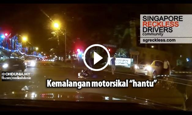 Kemalangan Motosikal 'Hantu' Di Singapura