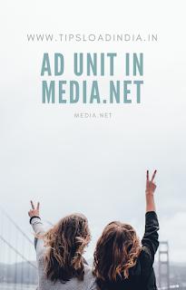 Create a ad unit in media.net