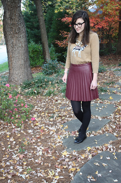 2016, fall, statement piece, camel, leather skirt