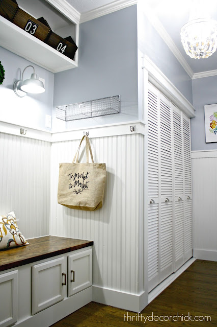 Laundry room turned mudroom makeover