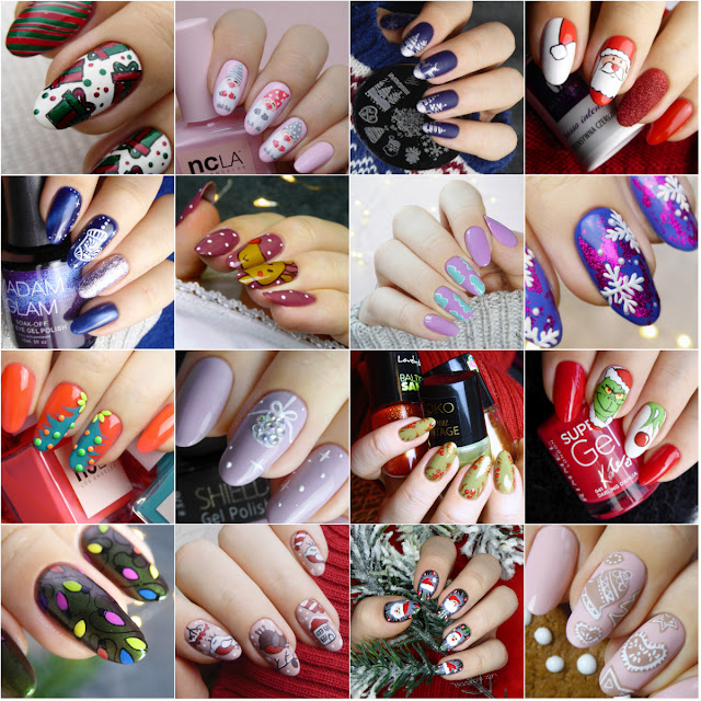 pomysł na świąteczne paznokcie