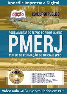 Apostila Concurso PMERJ 2017 CFO Polícia Militar do Estado do Rio de Janeiro