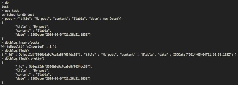 PEM: Pretty print in MongoDB