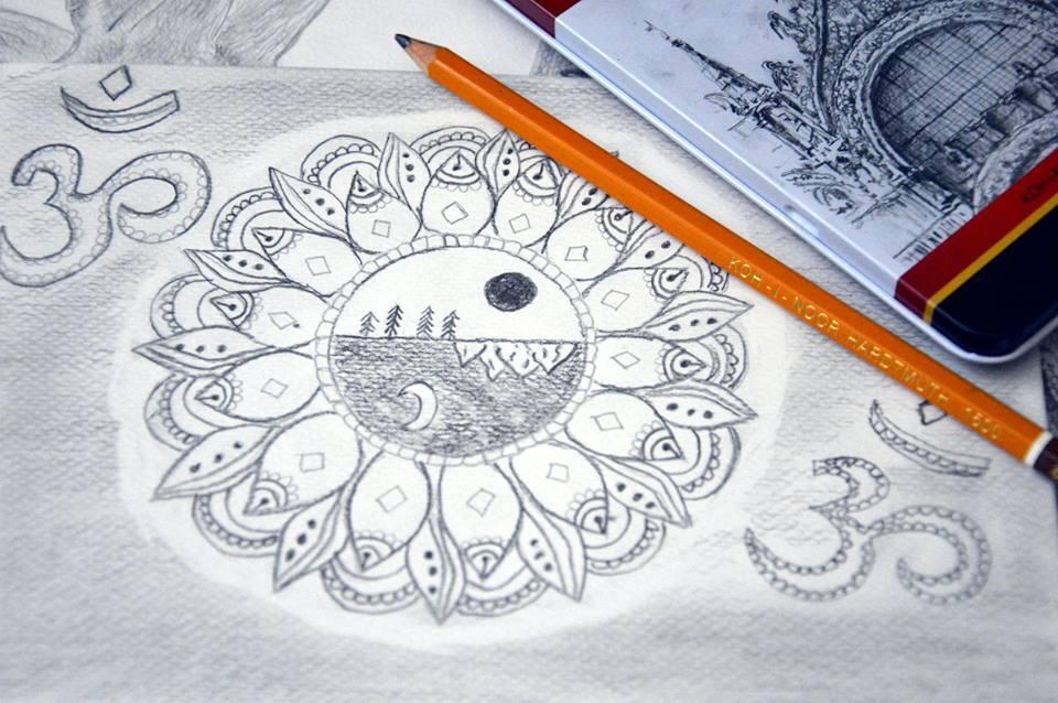 mandale, malowanie mandali