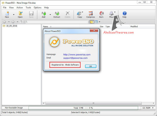 PowerISO - Create virtual disc images under various popular formats like ISO, BIN, and CUE, create bootable disks, and mount them in one or more virtual drives.