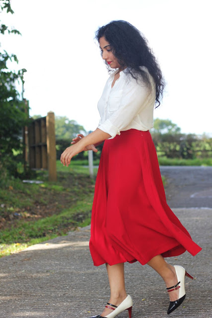 Culottes in Red