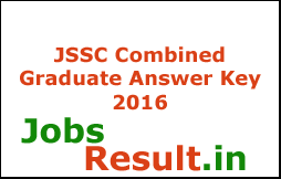 JSSC Combined Graduate Answer Key 2016