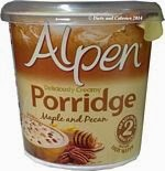 Alpen porridge maple and pecan