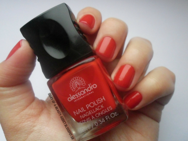 Alessandro International Nail Polish Secret Red : Review, Swatch