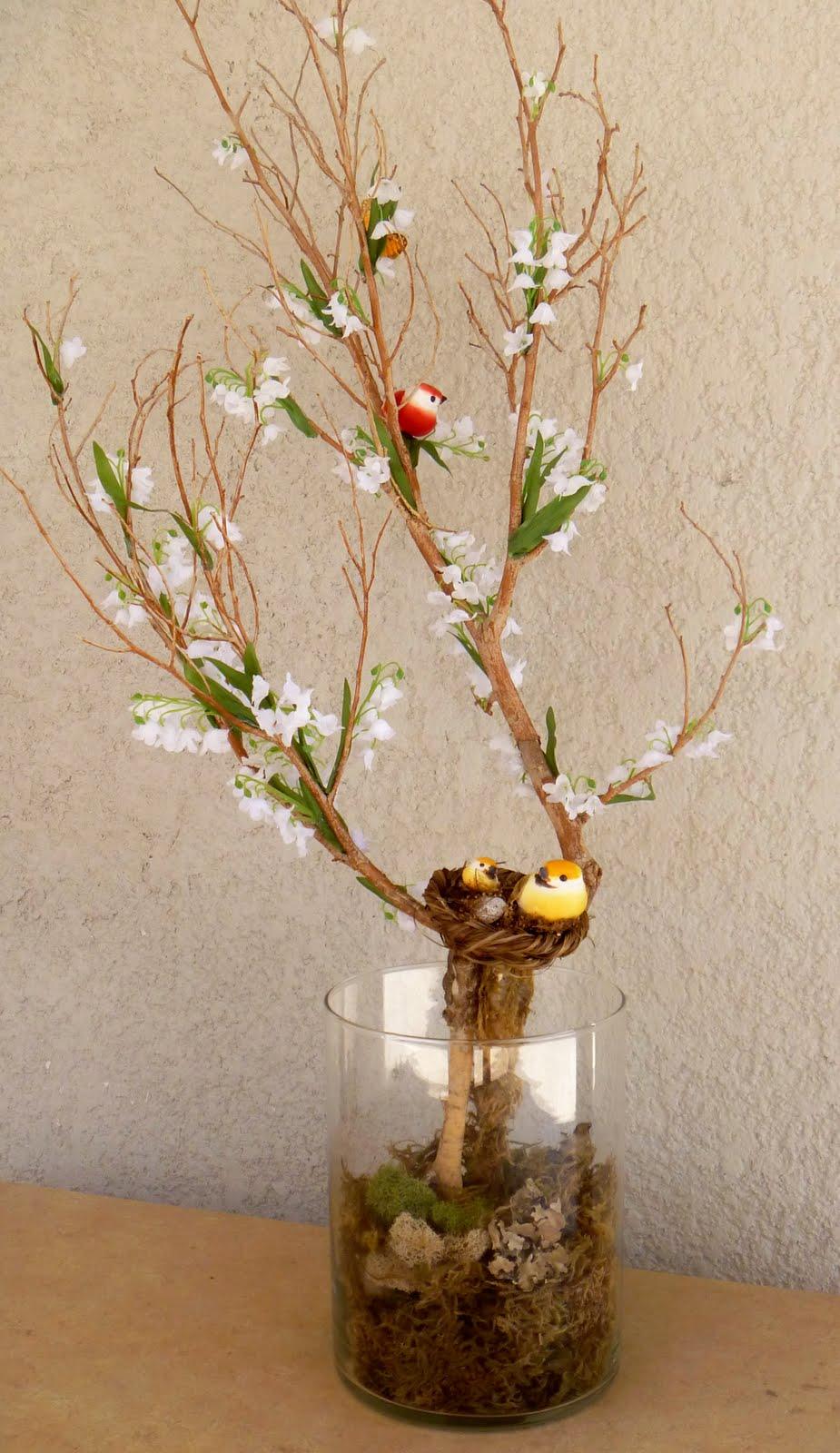 El blog de tit arreglos primaverales - Centros de mesa con pinas secas ...