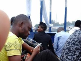 They sit on the floor to write Nigeria Navy exams? (photos)