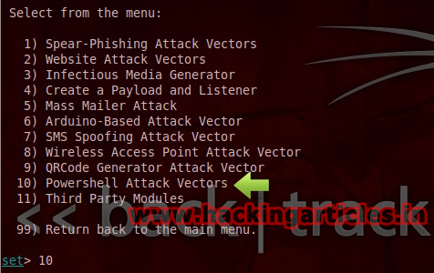 Hack Windows7 PC using Powershell Attack Vector in Social