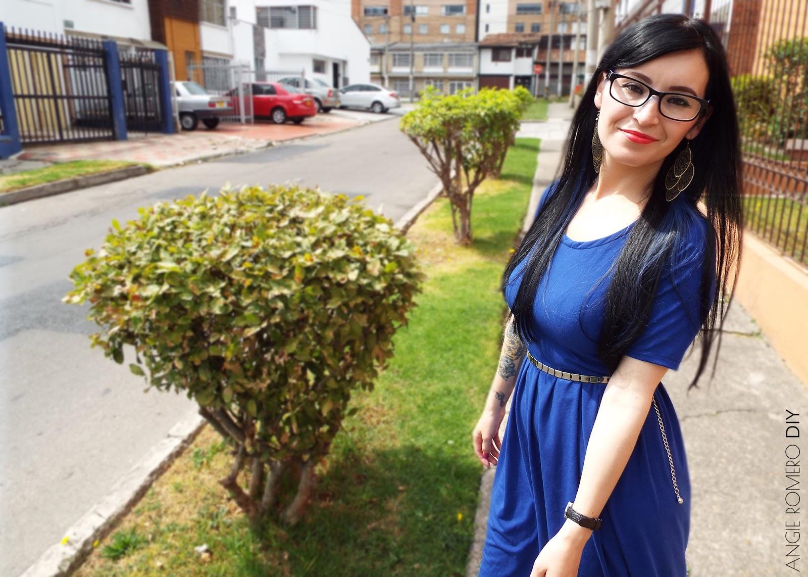 DIY - vestido azul klein
