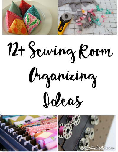 Sewing and Craft room organizing ideas roundup