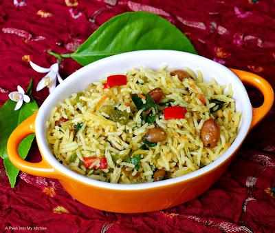 Vegetable Lemon Rice ~ Day 89