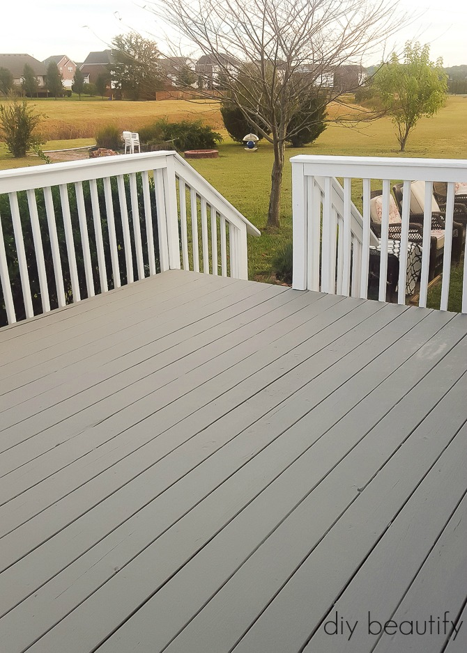 Deck Paint That Fills Cracks ~ How to update a deck with paint diy beautify