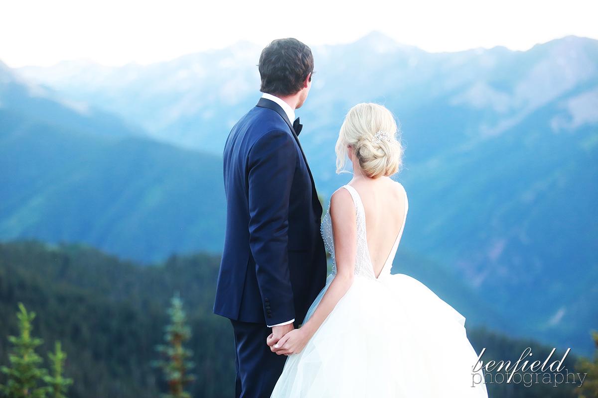 benfield photography blog aspen wedding portraits on top