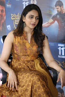 Rakul Preet Singh smiling Beautyin Brown Deep neck Sleeveless Gown at her interview 2.8.17 ~  Exclusive Celebrities Galleries 211.JPG