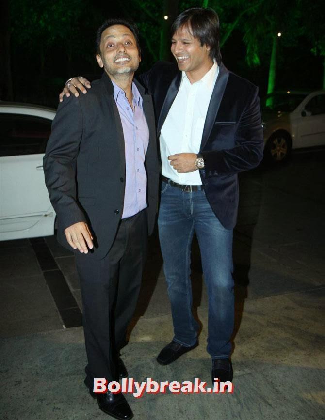 Sujoy Ghosh and Vivek Oberoi, Filmfare party Candid Pics - Huma, Deepika, Sonam