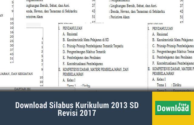 Silabus Kurikulum 2013 SD Revisi 2017
