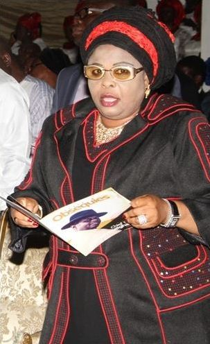 Former First Lady to Nigeria Patience Jonathan's look pretty and sexy at  Alamieyeseigha's burial