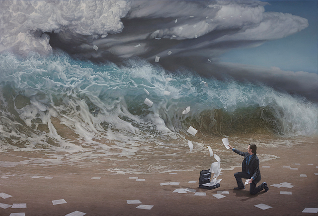 Green Pear Diaries, arte, pintura, Joel Rea, The Time has come
