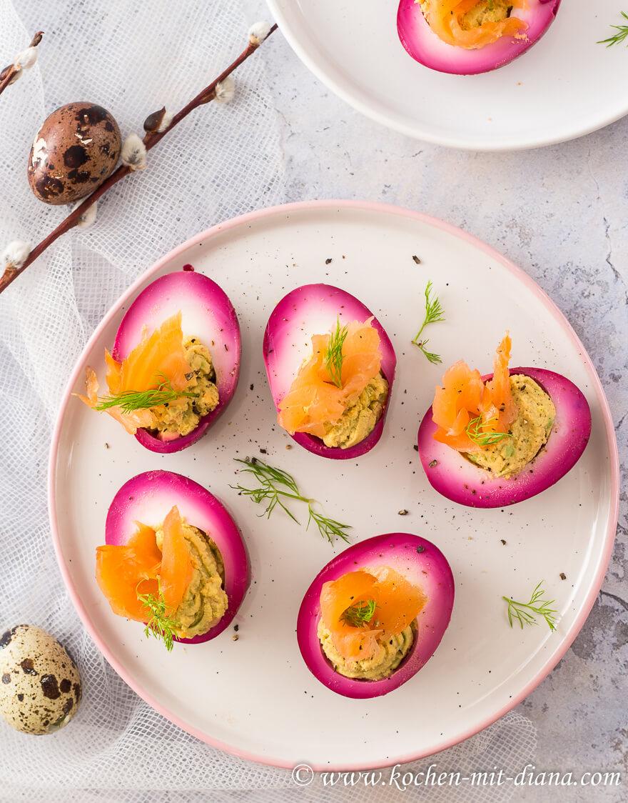Gefüllte rote Bete Eier