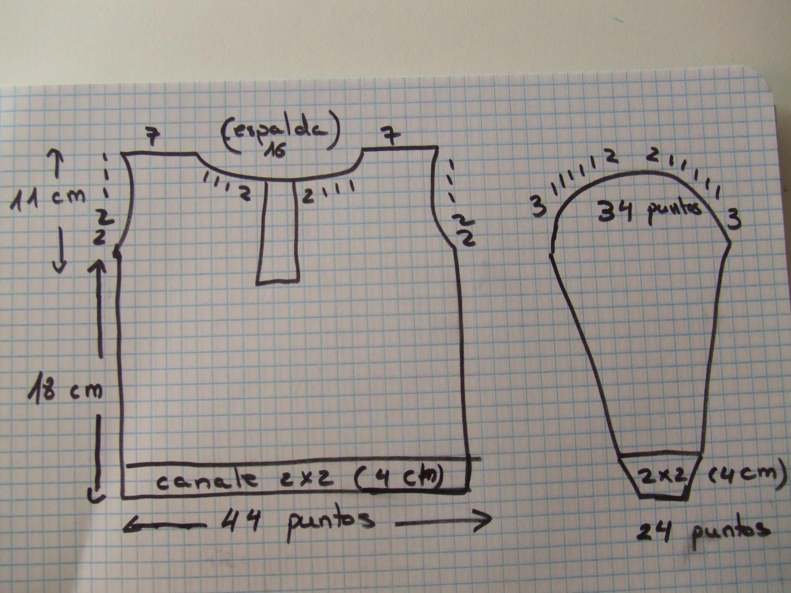 Lanas y m s blog jersey a dos agujas para bebe 18 meses - Como hacer un jersey de punto ...