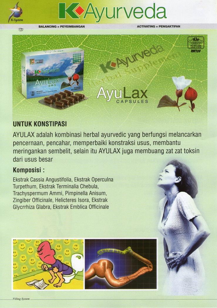 K Ayurveda Ayu Lax Produk K Link Malaysia