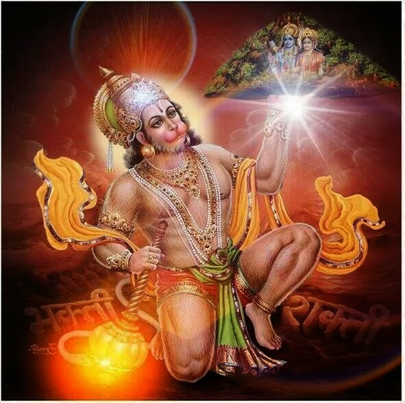 Hanuman Lifting Sanjeevani Mountain Images | Hindu ...