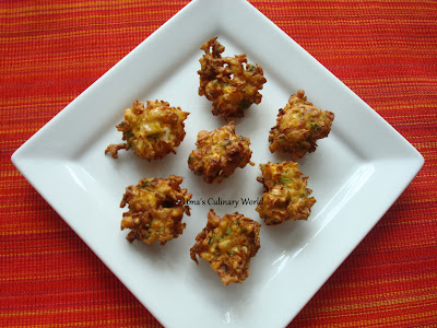 cabbage and spring onion bhaji