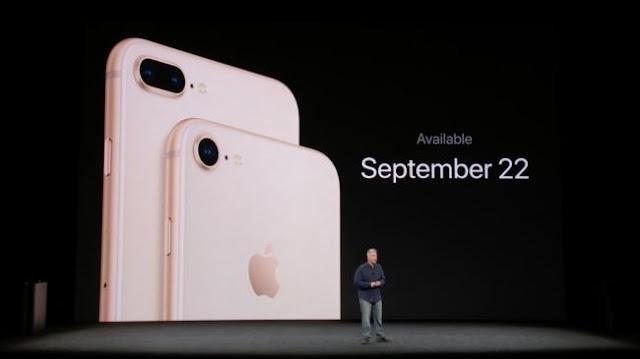 مواصفات ومميزات هاتف ايفون 8 وايفون 8 بلس الجديد لشركة ابل 2017 - 2018 وسعر جهاز ايفون 8