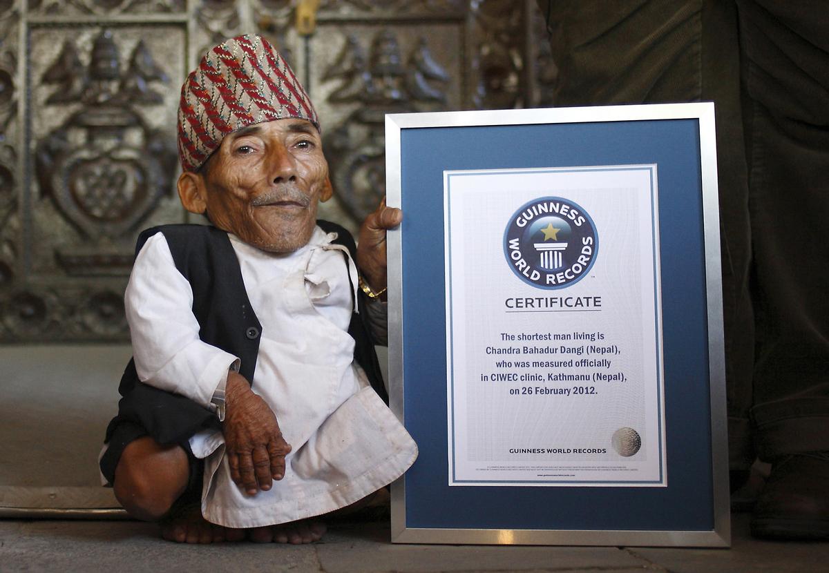 Chandra Dangi homme le plus petit du monde