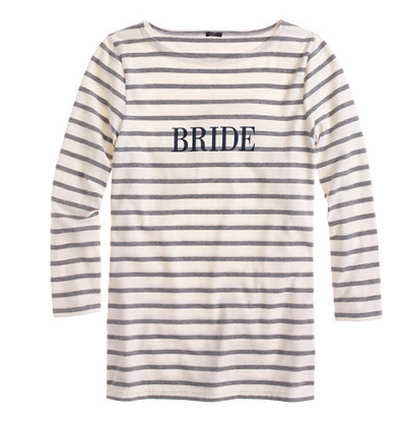 J Crew bride shirt