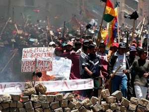 La guerra del gas natural en Bolivia