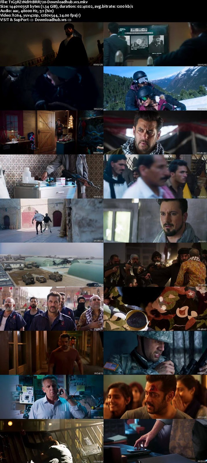 Tiger Zinda Hai 2017 Hindi 720p BluRay ESubs