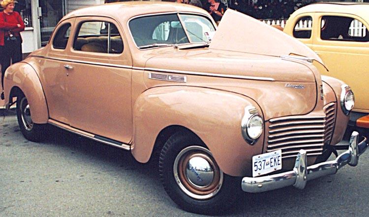 Autos photos voitures des usa chrysler 1920 for 1941 chrysler royal 3 window coupe