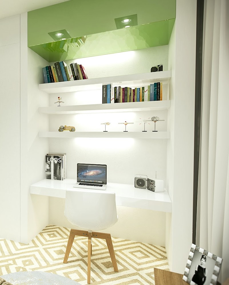 wooden-Scandinavian-look-white-office-chair