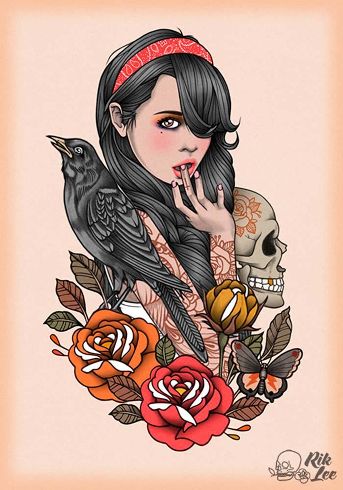 Ilustración de inspiración con el colorido de Rik Lee