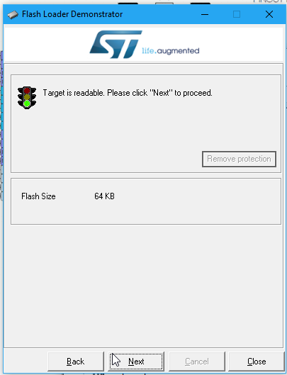 Flashing an STM32