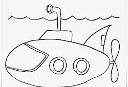 Catatanku Anak Desa Gambar Mewarnai Kapal Selam