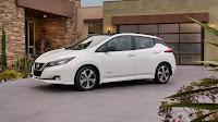 2018 Nissan Leaf (Credit: Nissan USA) Click to Enlarge.
