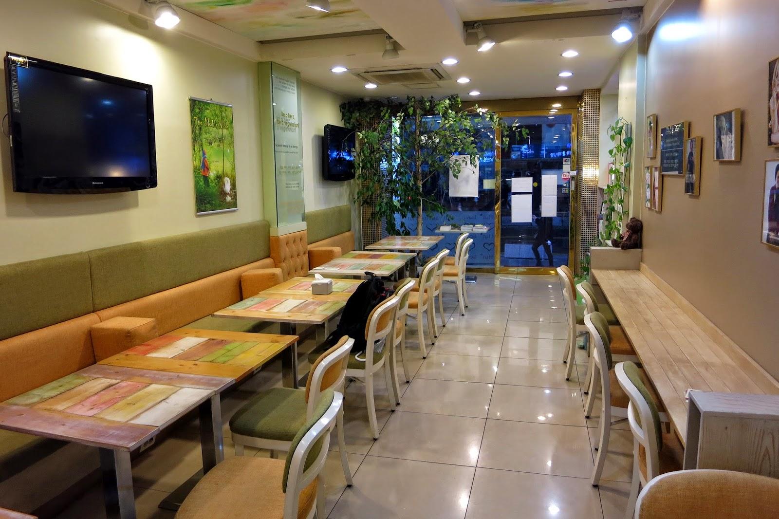 素食寶寶: 1030320韓國首爾新村loving hut愛家蔬食餐廳
