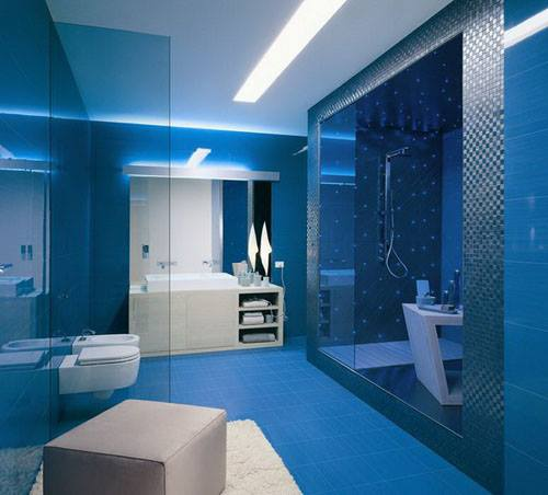 Cool Modern Blue Bathroom Design Ideas 2016