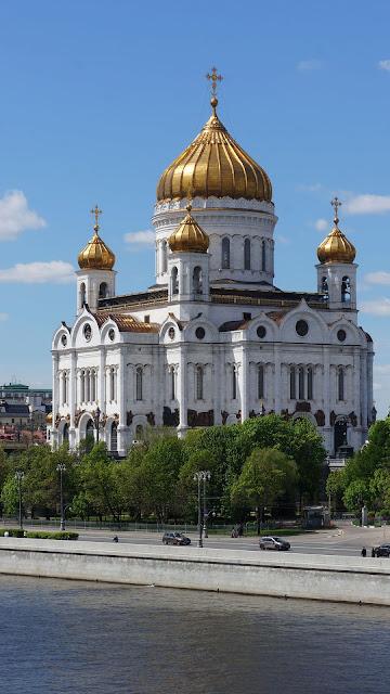 Фото Храма Христа Спасителя с золочёными куполами