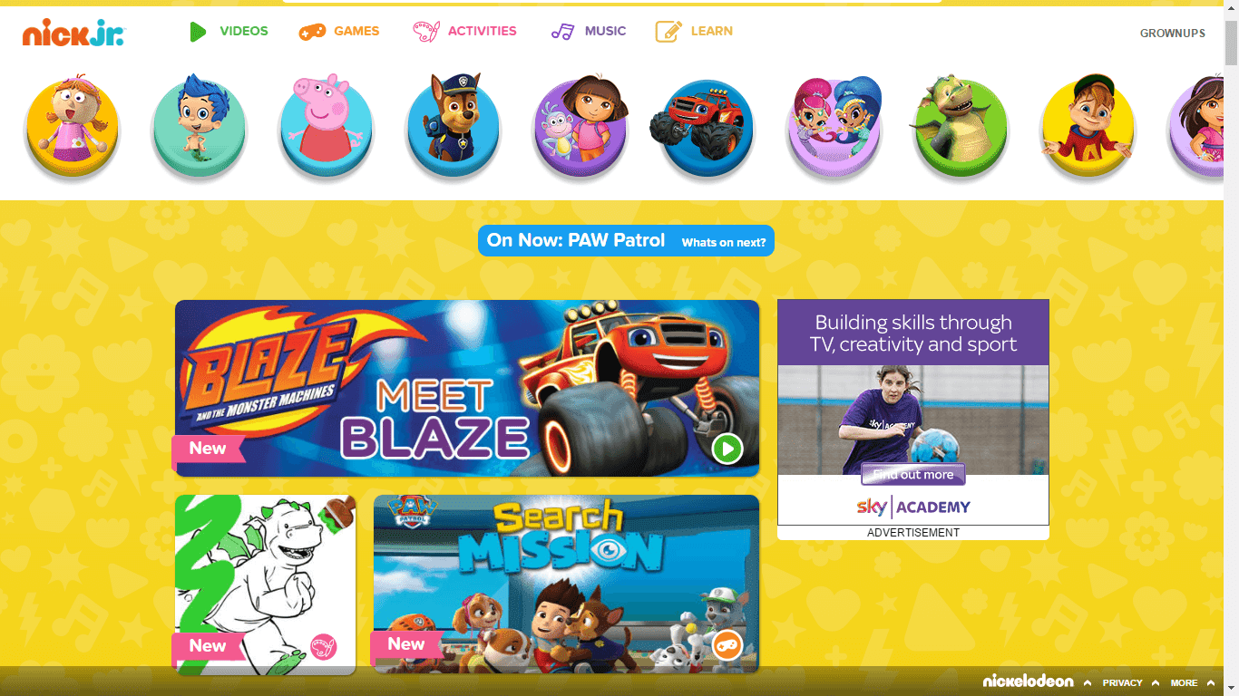 NickALive!: Nick Jr. UK Launches New Look Official Website